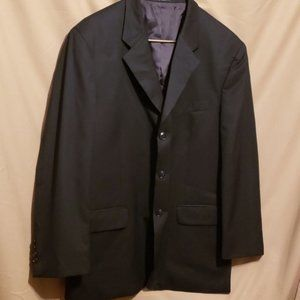 JONES NEW YORK  BLACK WOOL MENS BLAZER NO SZ